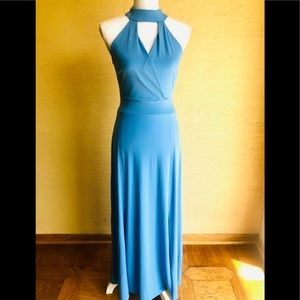 NWOT! New York & Company Neck Tie Maxi Dress.